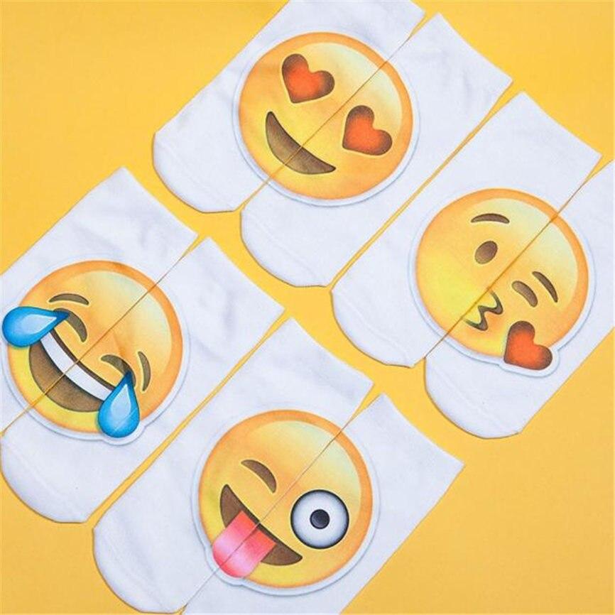 FäHig 1 Pairs 3d Digital Print Unisex Paar Gesicht Lächeln Atmungsaktive Stretchy Socken Liebhaber Geschenke Boot Socken Dropshipping 1220