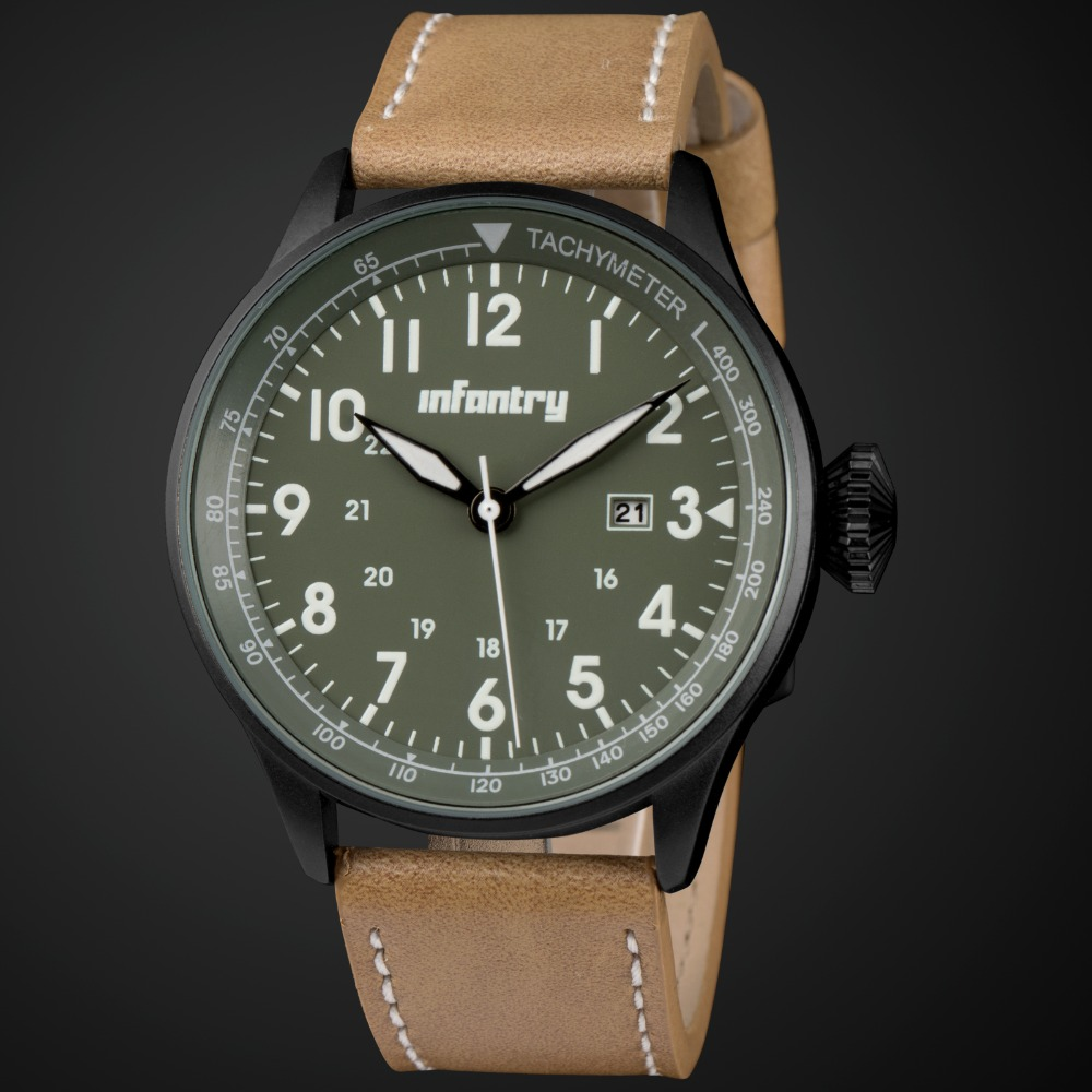 aliexpress com buy infantry mens watches classic fashion dress aliexpress com buy infantry mens watches classic fashion dress quartz watches green for men military army brown pu leather 2017 tactical relojes from