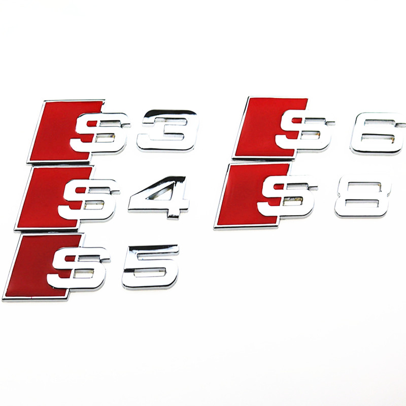 ᑎD Aluminum Alloy S S S S S S Line Car Tail Sticker Badge - Audi car emblem