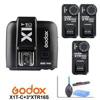 Godox X1T-C TTL 2 4G Drahtlose Auslöser für Canon + 3x XTR-16S-Receiver für Godox V850 V860C V850II V860II-C V860N V860II-F