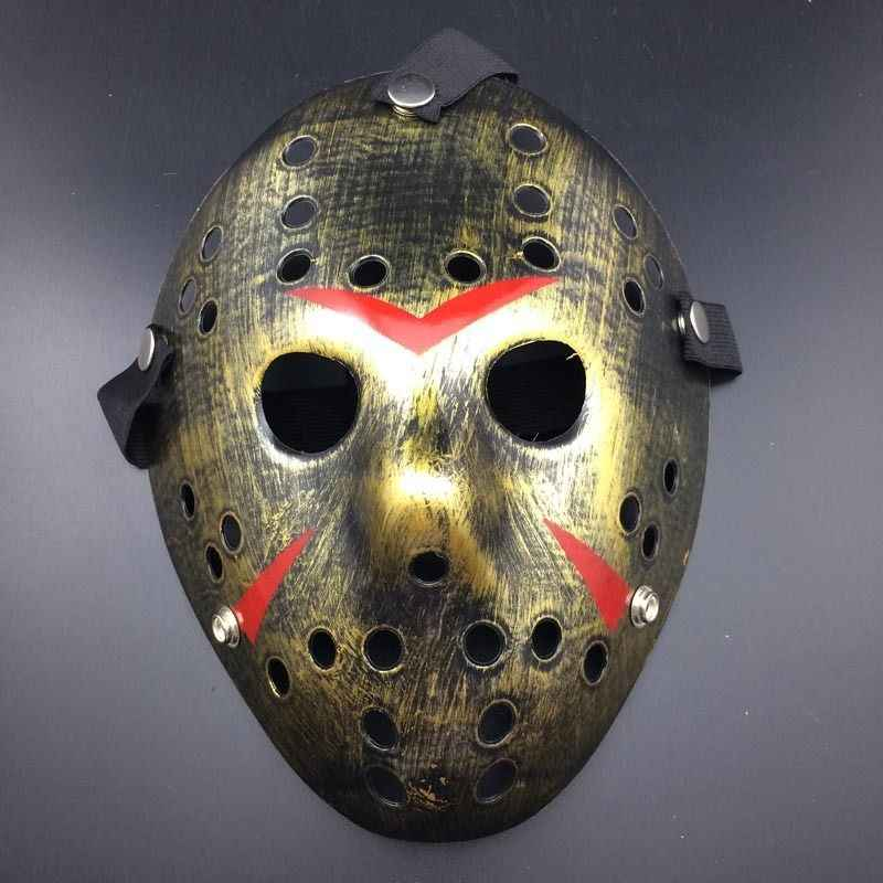 Terbaru Halloween Berpori Topeng Jason Masker Replika Jason Voorhees Friday The 13th Film Horor Topeng Hoki Menakutkan Halloween Topeng Panas