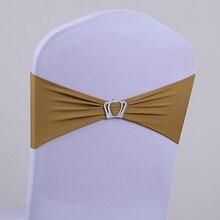 Elastic bowknot decoration elastic belt chair cover bandeaus ribbon wedding spandex