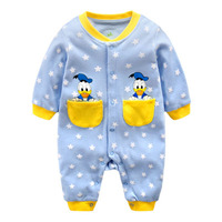 disney Baby Onesies Spring and Autumn Clothes for Baby Girl and Boy Newborn Clothes Romper for 0 12 Months Baby