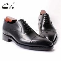 Free Shipping Custom Handmade Mackay Craft Pure Genuine Calf Leather Men S Dress Oxford Color Black