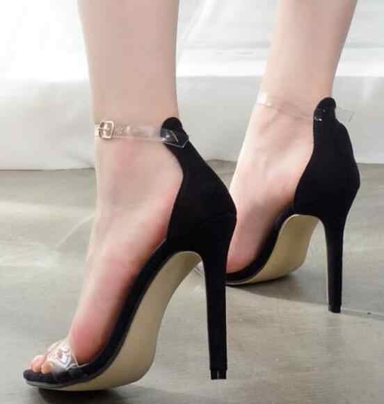7bb1cc7f50a ... 2018 summer bride party female sexy thin high heels women pumps ladies shoes  woman ankle strap ...