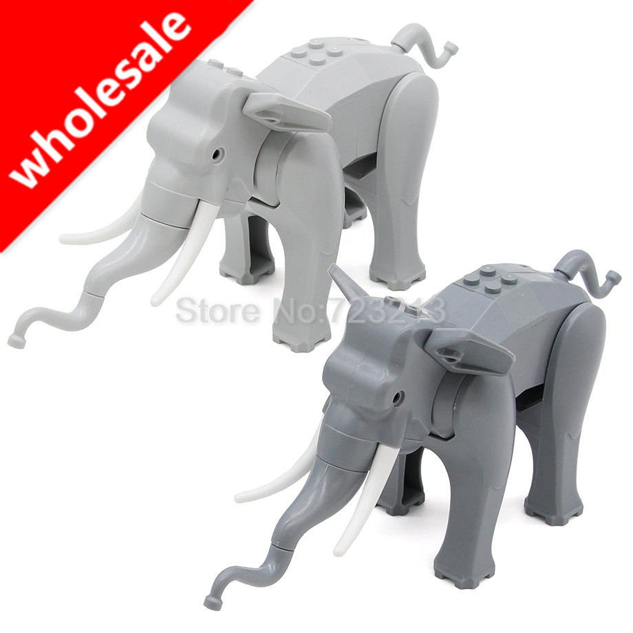 Wholesale 10pcs/lot Elephant Figure Cute Animal Building Blocks Set Model Bricks Educational Toy for Children