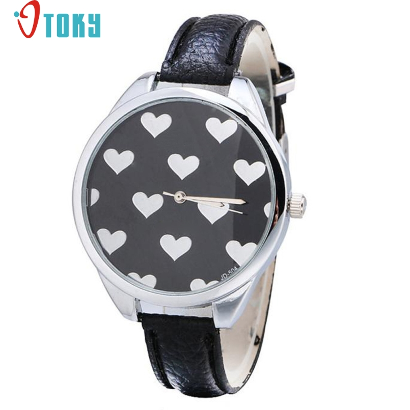 Excellent Quality OTOKY Fashion Leather Strap Women Watch Casual Love Heart Quartz Wrist Watch Reloj Mujer Relogio Feminino Gift