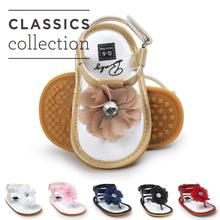 2019 New designs Crystal floral Baby sandals T style Flip Ho