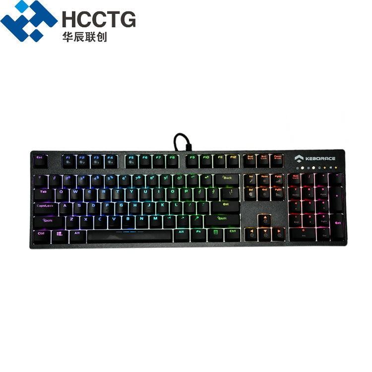 104 touches ABS Keycaps cerise MX marron filaire rétro-éclairé RGB mécanique Gamer clavier HGK104-O-C-US