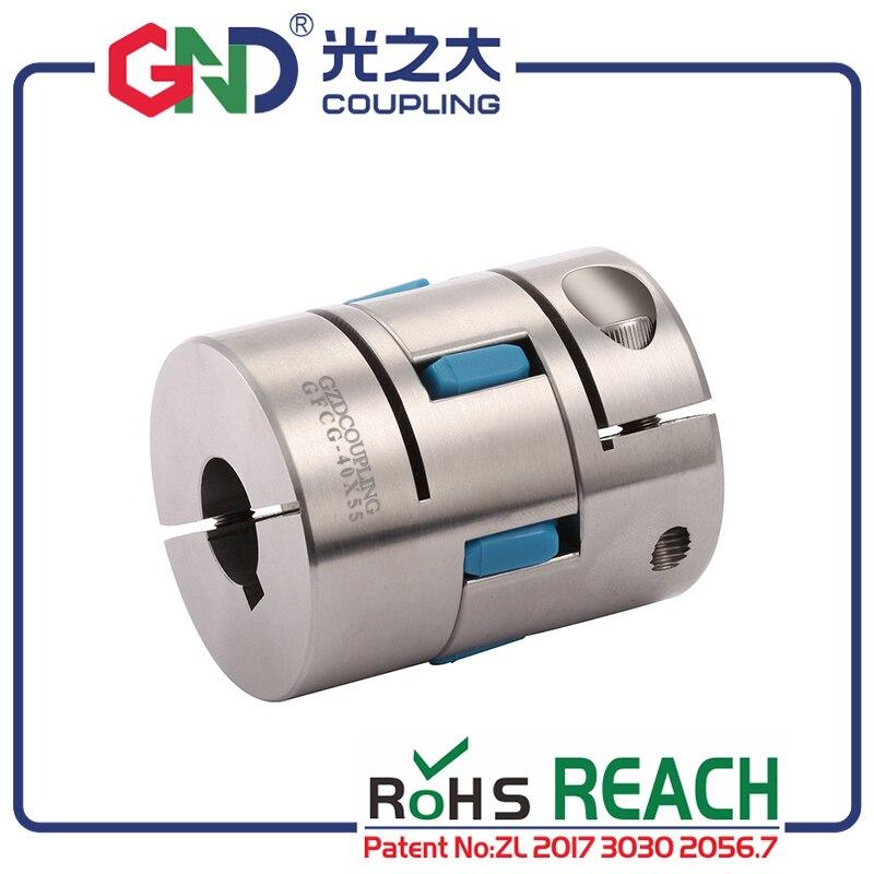 GND jaw coupler  servo motor jaw shaped clamping flexible CNC flange flexible kupplung wellen