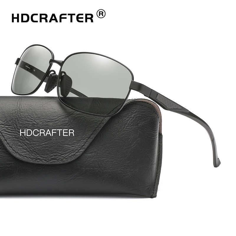 fb8c2a0b1c HDCRAFTER Photochromic Lenses Glasses Men Women Driving Sunglasses Aluminum Frame  Polarized Sun Glasses Men s Goggle Eyewear