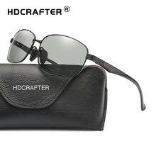 HDCRAFTER Photochromic Lenses Glasses Men Women Driving Sunglasses Aluminum Frame Polarized Sun Glasses Men's Goggle Eyewear
