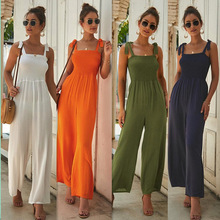 ZOGAA New Women 4 Colors Loose Playsuit Spaghetti Strap Lace Romper Jumpsuit Summer Street Wear Jumpsuits for 2019