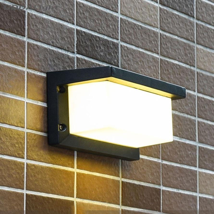 Led Outdoor-wandlampe Led-lampen Freundschaftlich Garten Wand Lampe 10 W Haus Außen Licht Schwarz/grau Einer Wand Im Freien Licht 30% Off