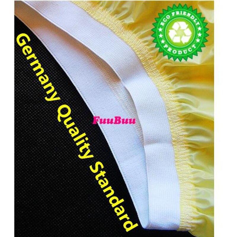 O envio gratuito de FUUBUU2207-Yellow-M-1PCS calças elásticas largas fraldas para adultos não descartáveis fralda plástico calças shorts pvc
