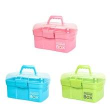 3 цвета Многослойные пластика домашние Портативный аптечке детская медицина коробка для хранения небольшой медицинский коробка аптечка