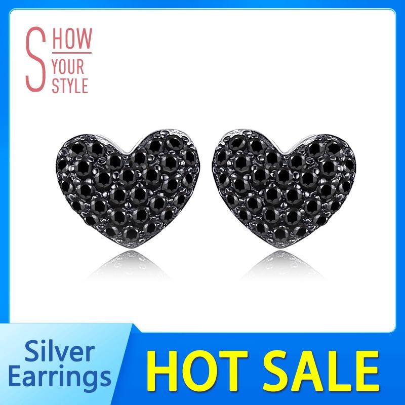 JewelryPalace Fashion 0.29ct natuurlijke zwarte Spinel Love Heart - Fijne sieraden