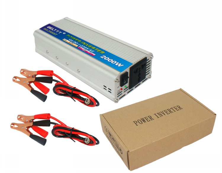 2000Watt modified sine wave inverter use in Car DC12V to AC220V 50HZ power inverter