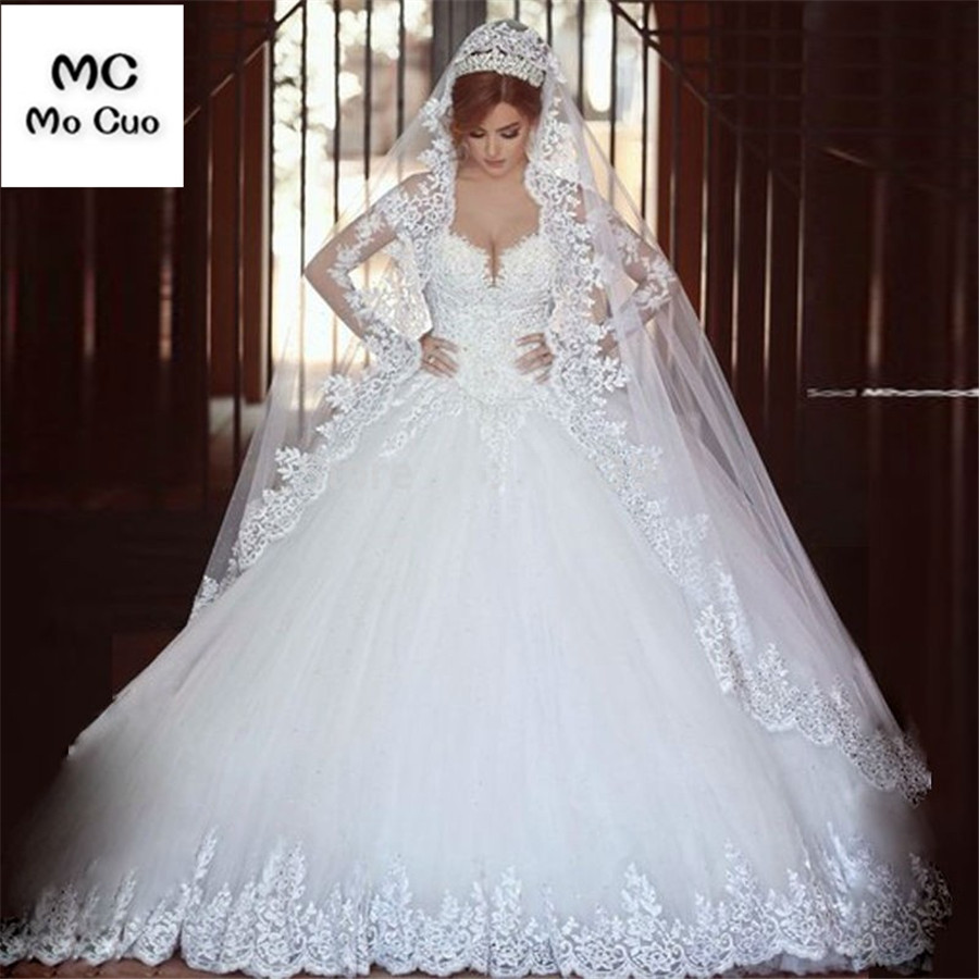 Long Muslim Bridal Veil Cathedral Lace Edge 3 Meters One Layers Tulle Lace Wedding Veils Wedding Accessories 2018 Brides Veils