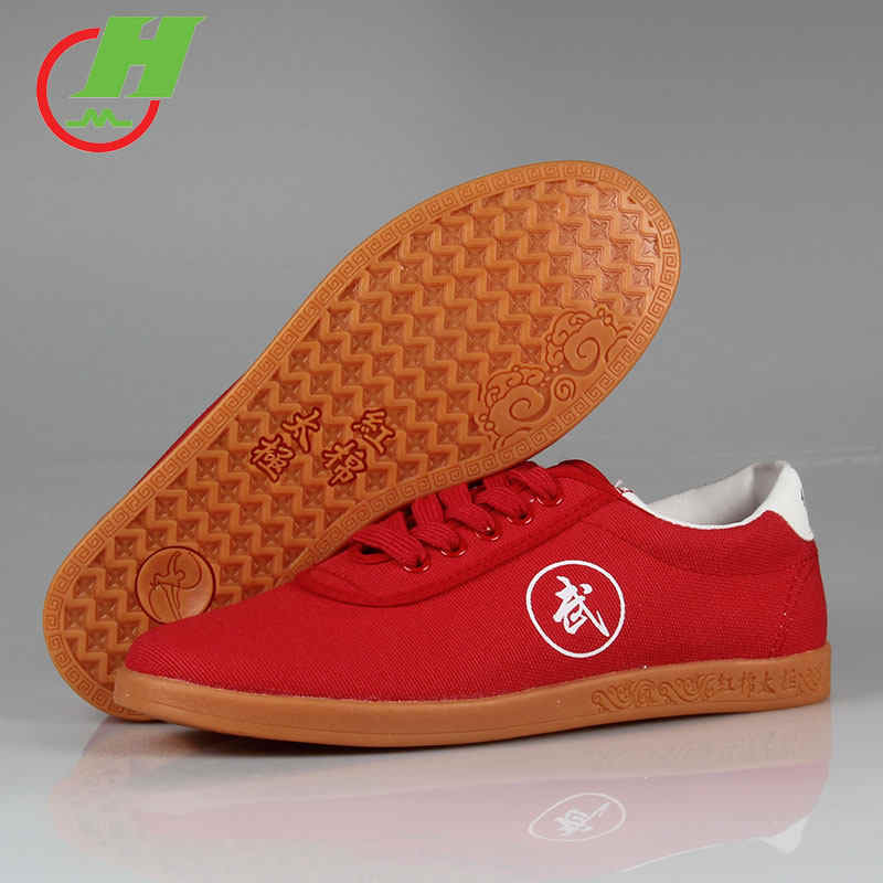 White Black Red Canvas Running Kung Fu Wushu Taichi Tai Ji Shoes