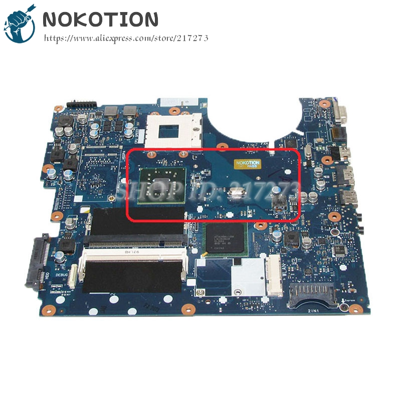 NOKOTION BA92-05711A BA92-05711B For Samsung NP-R522 R520 Laptop motherboard gma hd DDR2 Free cpu nokotion for samsung r60 plus laptop motherboard np r60y ba92 04772a rs600me sb600 radeon xpress 1250 ddr2