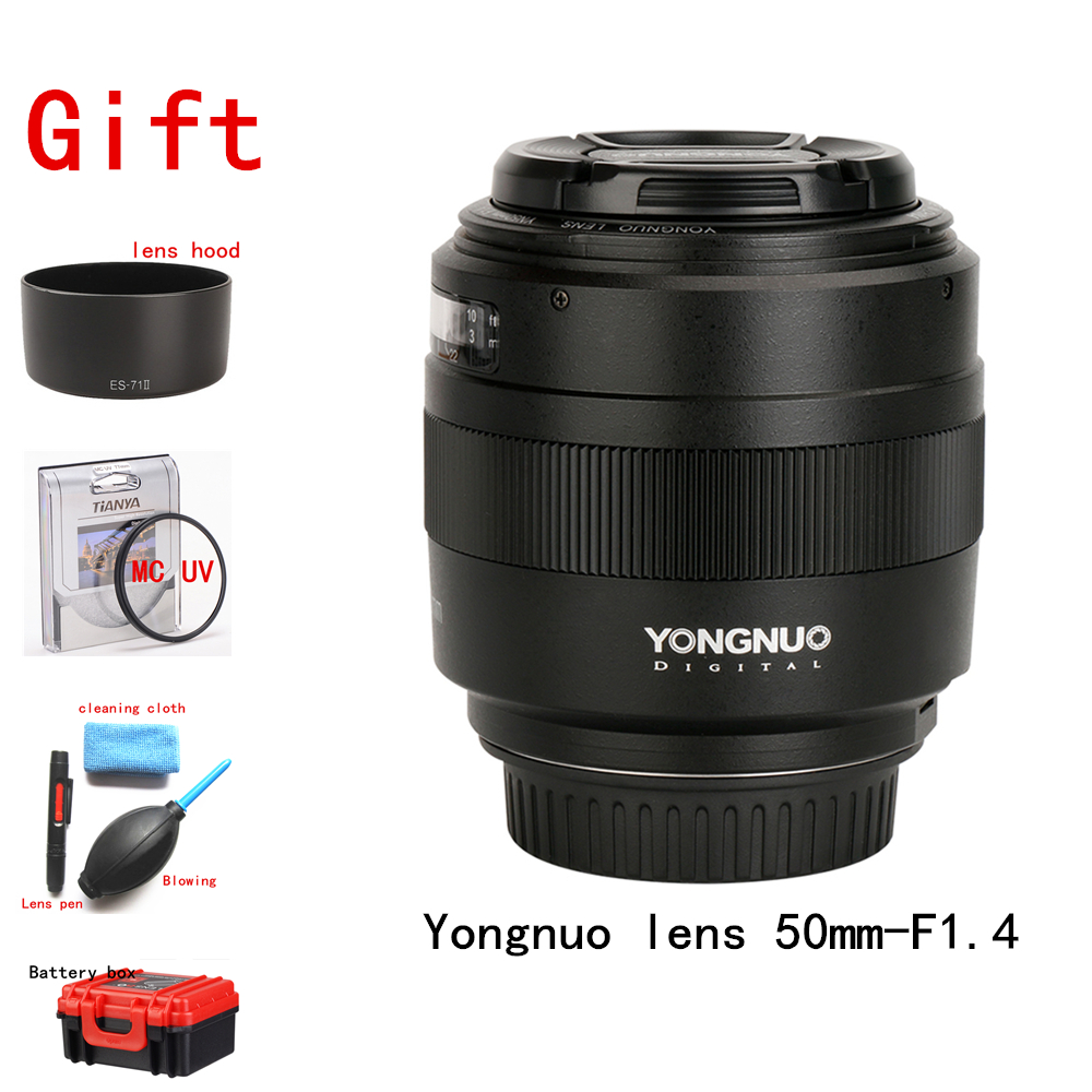 YONGNUO YN50mm F1.4 Standard Prime Lens Large Aperture Auto Focus (AF)/Manual Focus (MF) 50mm Lens for Canon EOS Camera image