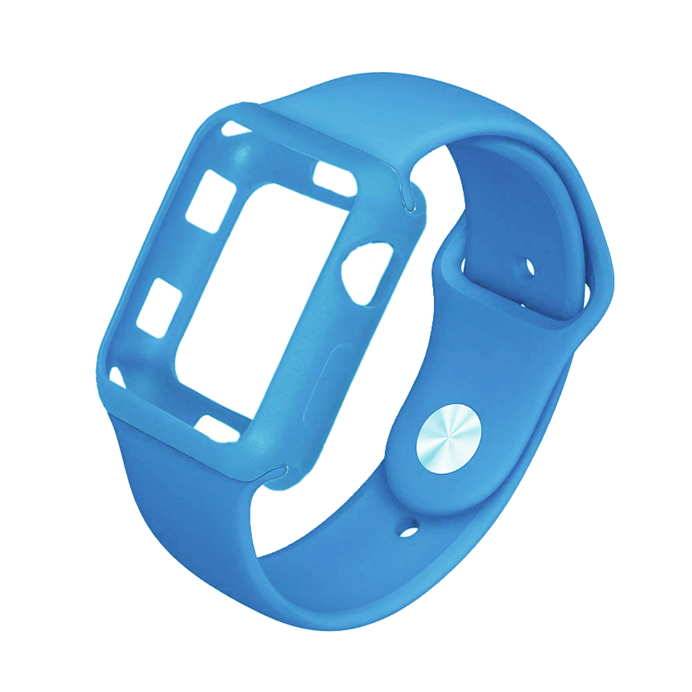 EIMO Silicone Strap Cases For Apple Watch Case 42/38mm Iwatch Series 3/2/1 wrist band bracelet watchband Rubber Protective Cover pj 002 protective silicone case wrist band for gopro hero 3 3 wi fi remote controller blue