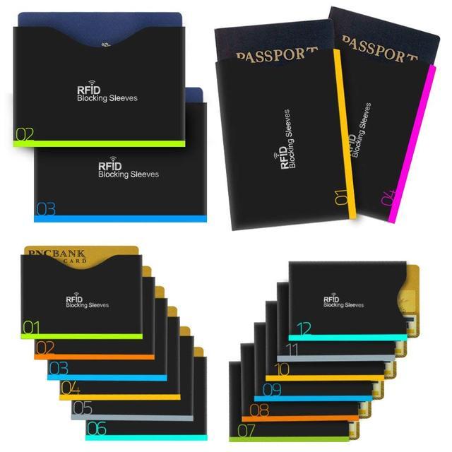 Aerb 16 peças/set Anti-furto RFID Cartão Protetor Para Proteção Contra Roubo de Identidade RFID Bloqueando Manga Passaporte Cobre Para Cartões