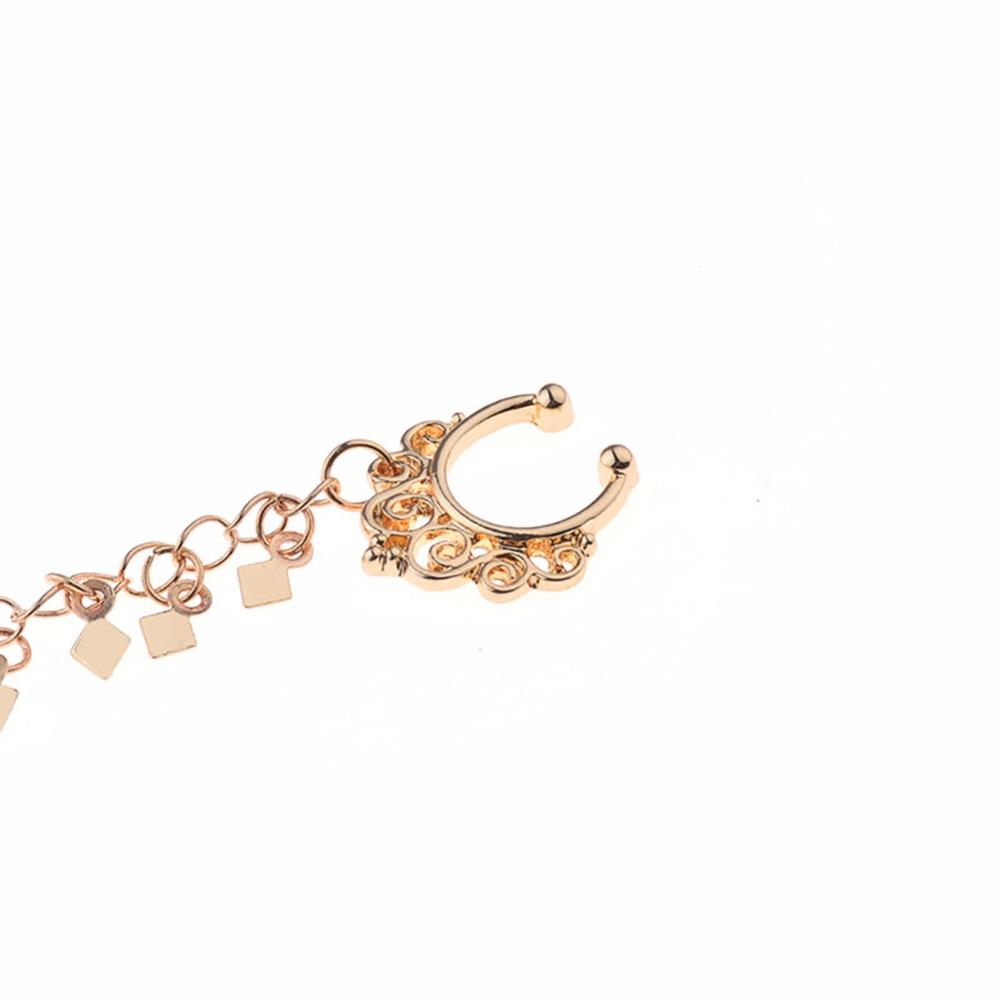 HTB1KsBpSFXXXXbIXFXXq6xXFXXX2 Nose to Ear Ring - No Pierce Clip on Fashion Jewelry