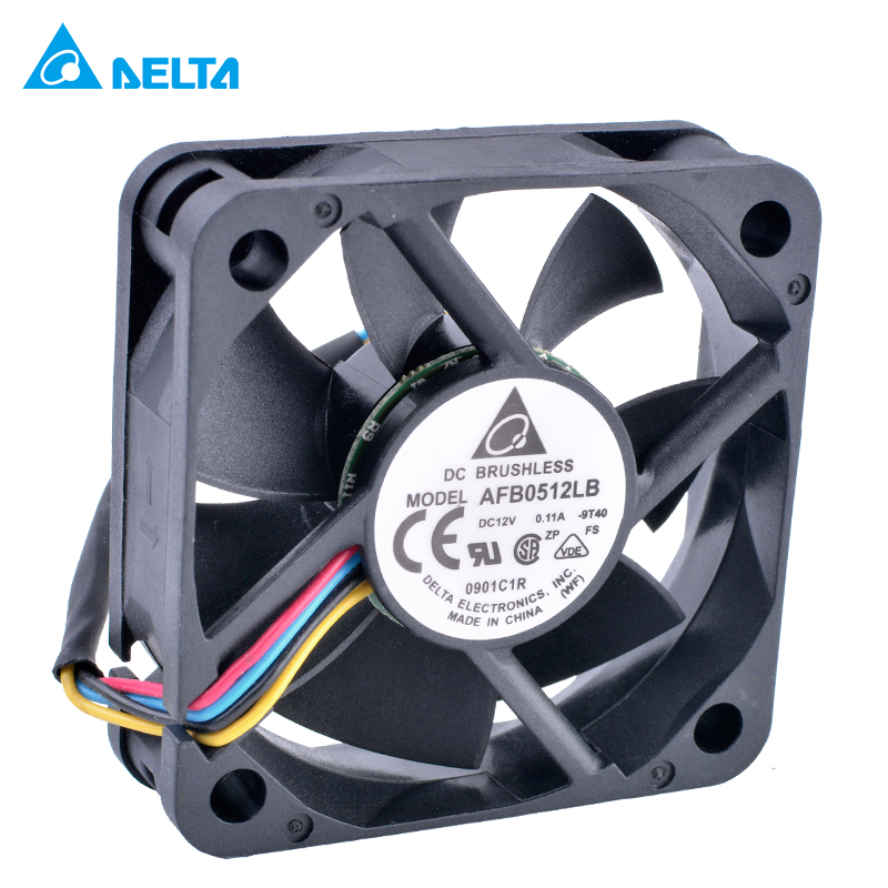 DELTA AFB0512LB 5015 50x50x15mm 50mm fan 12V 0.11A Double ball bearing 4 wire 4pin mute cooling fan new dual ball bearing cooling fan ffb0912hhe f00 9cm 9038 12v 0 53a 3line delta