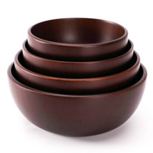 Beisesi 4pcs/set Chinese Fir Wooden Bowls Traditional Food Container Brief Nature Soup Rice Salad Bowl Tableware