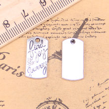 62pcs Jewelry Charms find joy in journey 20x10mm Antique Silver Plated Pendants Making DIY Handmade Tibetan Silver Jewelry
