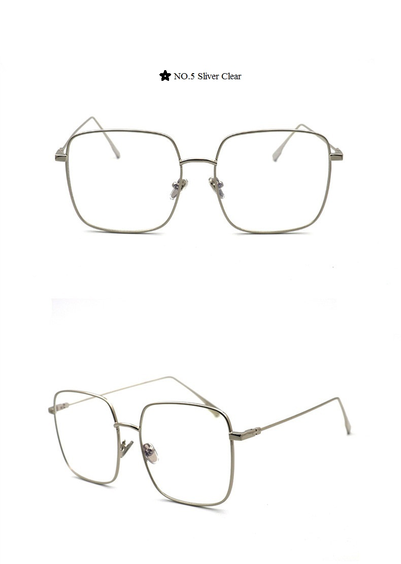 ca56ecb076 Superstar Style Big Frame Glasses Clear Square Sunglasses Women ...