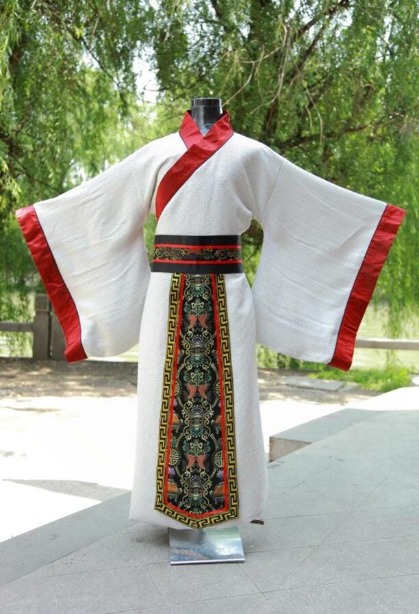 2019 Ancient Chinese Costume Men Stage Performance Outfit for Dynasty Men Hanfu Costume Satin Robe Chinese Traditional Dress Men
