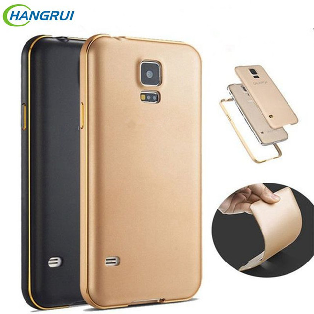 For Samsung Galaxy S5 Case Metal Frame+PC Back Cover Phone Case For Samsung S5 Case I9600 Capa Funda for Samsung galaxy s5 cover