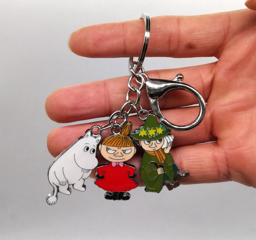 New 1 Set Cartoon Japanese Anime Hippo Witch  Keychain  Jewelry Accessories  Key Chains  Pendant  Gifts  Favors LK-5