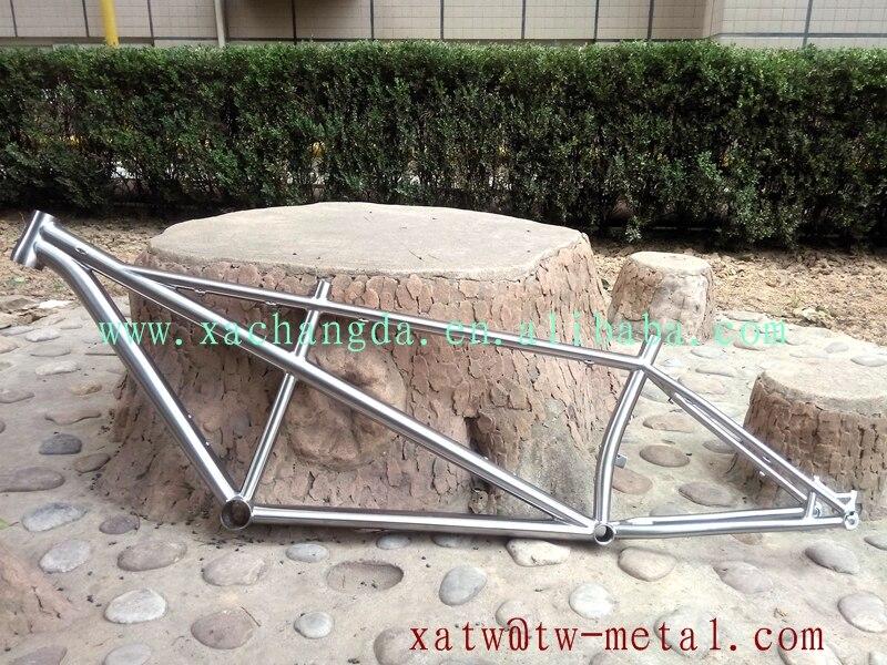 titanium tandem montain bicycle frame taper head tube titanium tandem fat bike frame