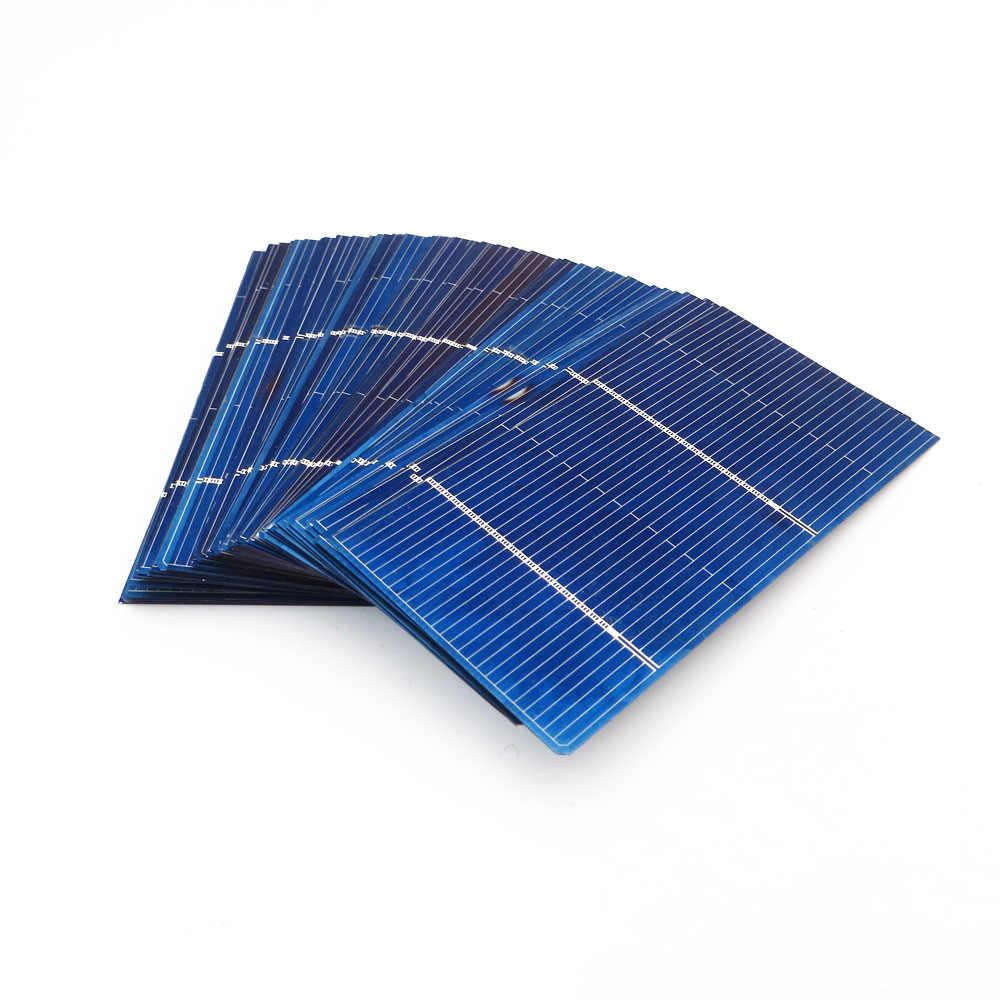 50 قطعة x الشمسية شاحن بطارية 5/6/9/12/18V لوحة طاقة شمسية DIY الخلايا الشمسية الكريستالات وحدة سخان شمسي بولي الطاقة ربط