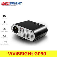 ViViBRiGHt GP90 Video Projector Home 3200 Lumens 1280 X 800 Support Full HD 1080P Video WXGA LED HDMI VGA Home Theater