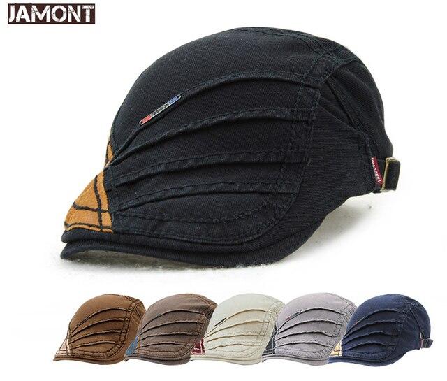 f6dba92e Cotton Flat Cap Gatsby Duckbill Hat Newsboy Ivy Irish Cabbie Scally Cap  Baseball cap Golf Hat