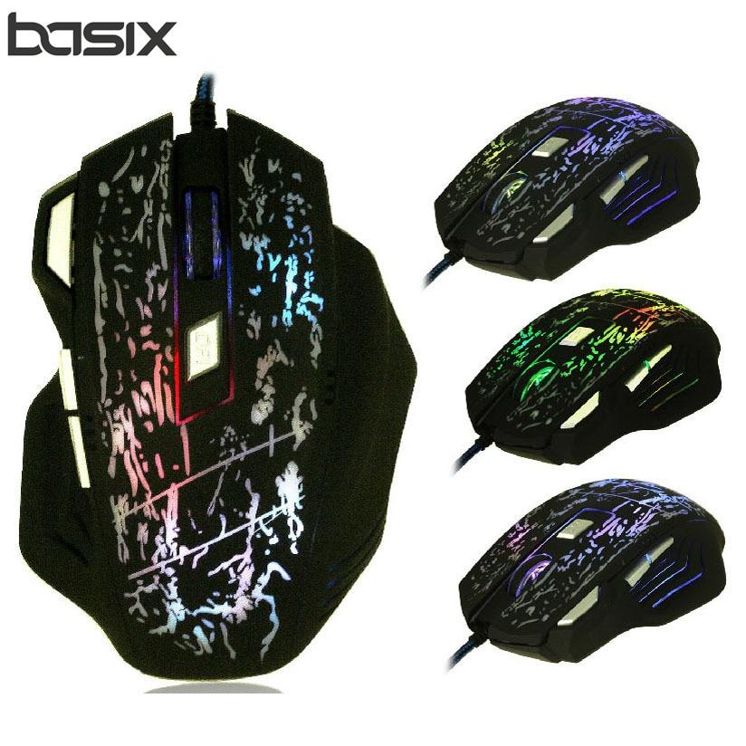 BASIX professionnel filaire souris de jeu 5500DPI réglable 7 boutons câble USB optique Gamer souris souris pour PC ordinateur portable
