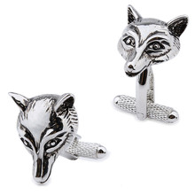 1 Pair Retail Interesting Plain Metal Casual Sports Style Animal Fox Men's Clothing  Accessories  Cuff Links