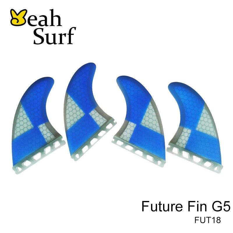 Avenir G5 Ailettes Bleu Nid D'abeille Surf Fins Avenir Ailerons De Planche De Surf Fin Quilhas Livraison Gratuite Paddle Board