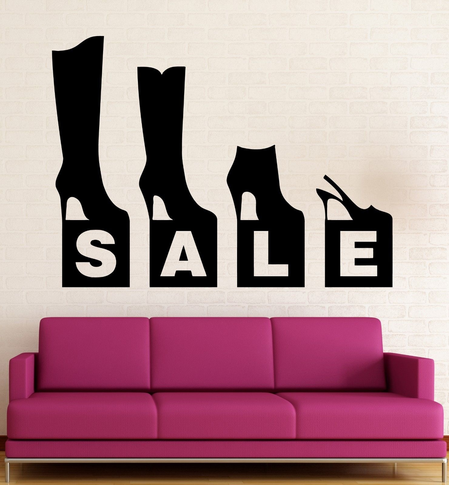 Shoe Store Wall Decal Sale Shopping Fashion SALE Quotes Window Decoration Vinyl Wall Sticker For Shops&Store ZS66