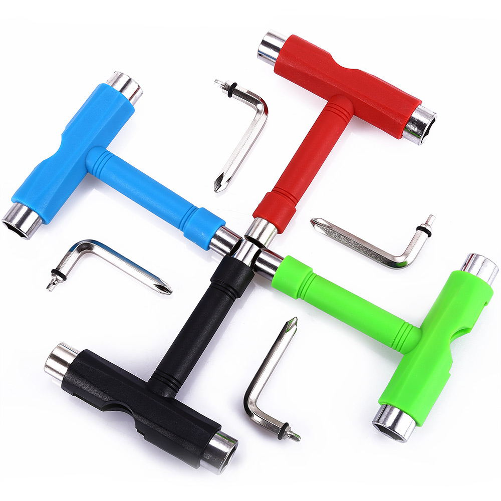 Portable Multifunctional Small Fish Plate Skateboard T-Tool Assembly Tool All In One T-Tool