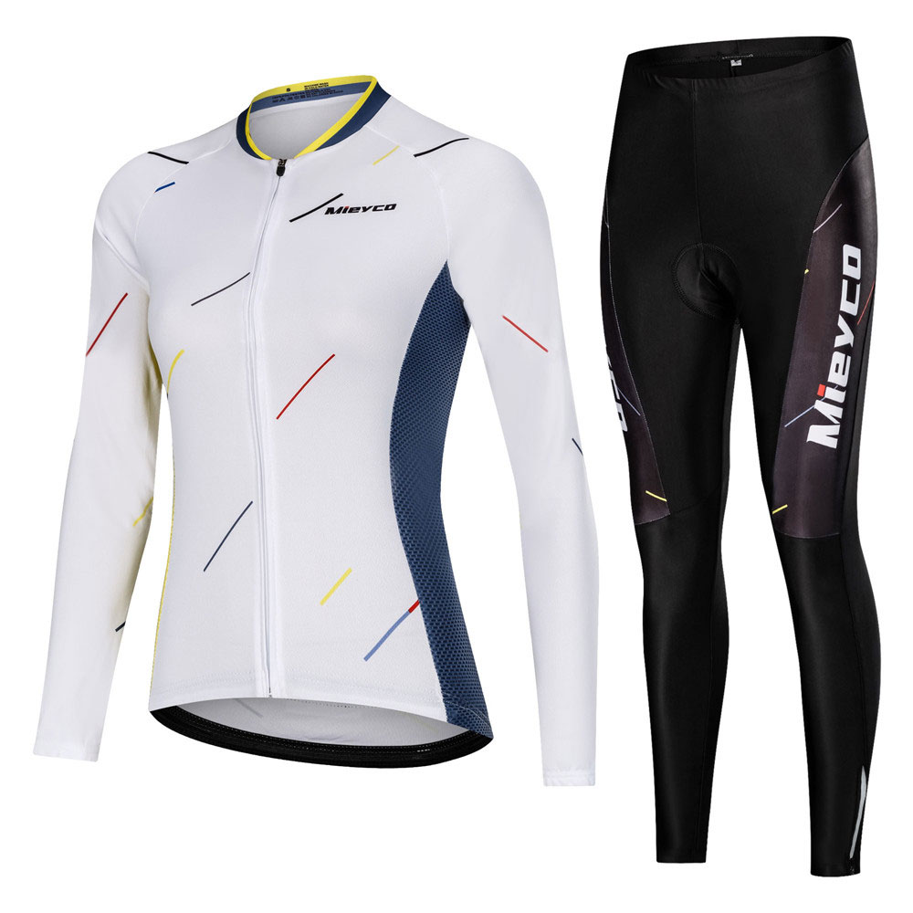 Pro Women Cycling Set MTB Bike Clothing Female Racing Bicycle Clothes Ropa Ciclismo Girl Cycle Wear Racing Bib long Pant Pad|Cycling Sets| |  - title=
