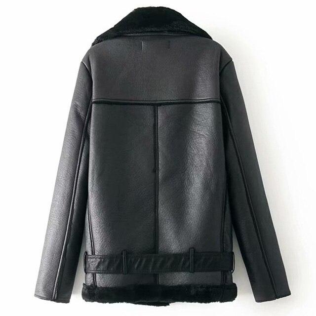 Warm women's winter motorcycle velvet jacket female short 1