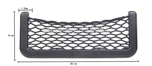 New Black 20CM Car Net Organizer Pockets Car Storage Net Automotive Bag Box Adhesive Visor Car Bag For Tools Mobile Phone