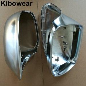 Image 3 - Kibowear dla Audi Q5 8R Q7 4L SQ5 chromowe lusterko boczne kapsle ochronne 2009 2010 2011 2012 2013 2014 2015 2016 srebrny matowy