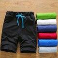 Marca 2017 Pantalones Cortos de Moda de Playa de Color Sólido Mes Sólido Cortos 3XL